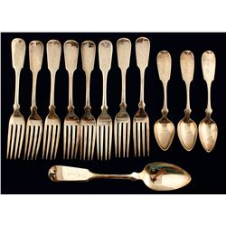 Rogers Bros Silver Spoons, Forks, & 1 Large Serving Spoon