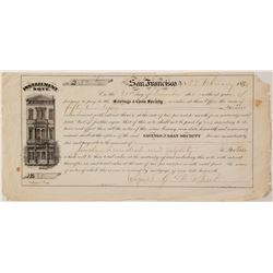 San Francisco Savings and Loan 1859 Installment Note