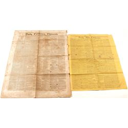 Two Rare Gold Rush Newspapers