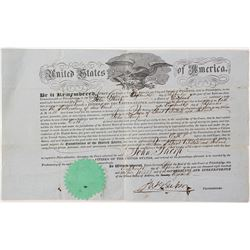 John Thorp 1855 United States Citizenship Papers
