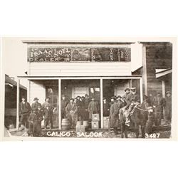 Real Photo Postcard of Calico Saloon