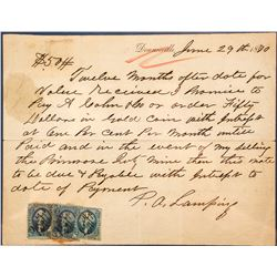 Promissory Note Signed by P.A. Lamping
