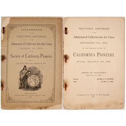 Program for the 39th Celebration of the Admission of California into the Union