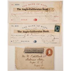 Napa Checks & a Wells Fargo Cover