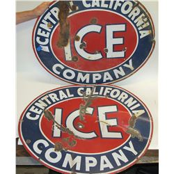 Two Central California Ice Signs