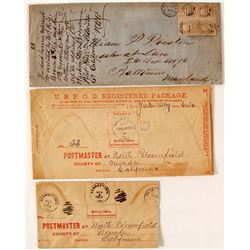 Placerville (and area) Postal History