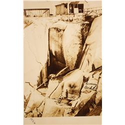 Real Photo Postcard of Rock Quarry at Rocklin