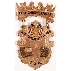 Past Chief Ranger Badge Court Golden Gate