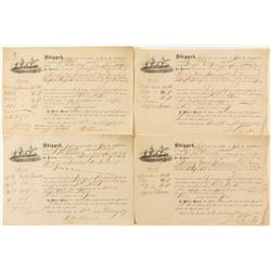 Shipping Receipts from H. & W. Pierce (4)