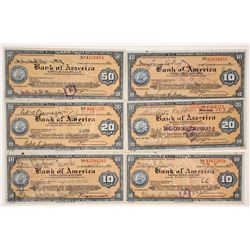 1930s Bank of America Travelers Checks