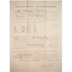 1892 Walker River Land Patent