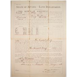 1892 Walker River Land Patent