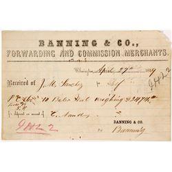 Historic Wilmington Billhead from Banning & Company