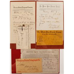 Three California Western Union Telegrams with Envelopes