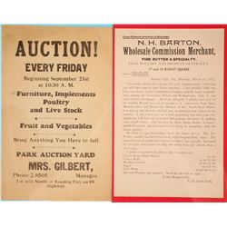 Two Vintage Broadsides