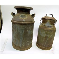 Two Vintage Milk Cans