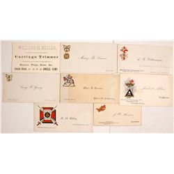 Vintage California Business & Fraternal Cards