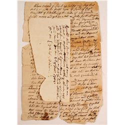 Revolutionary War Letter Concerning Note & Payment