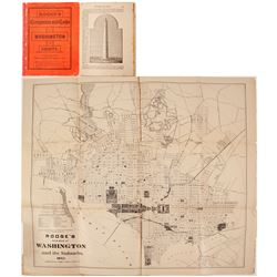 Roose's 1893 Pocket Map & Guide to Washington D.C.