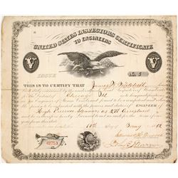 1862 Certificate for Steamboat Engineer