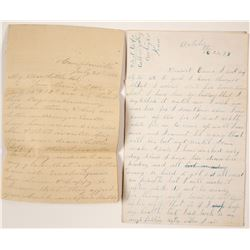 Three 19th Century Letters: Camptonville, CA and Cabin Valley, Kansas