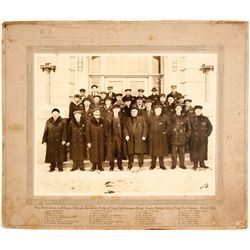 Large Mounted Photograph of Court Officials at Fergus Falls, Minnesota