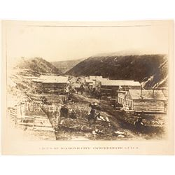 Early Reprint of Diamond City, Montana Photograph
