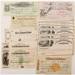 Montana Check Collection incl. Rare RN