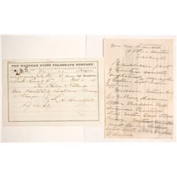 Two 1860s Montana Territory Telegraphs