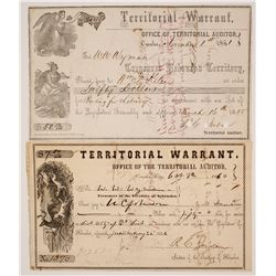 Two Omaha, Nebraska Territory Warrants