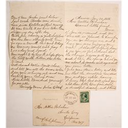 1888 Aurora, Nevada Letter & Cover