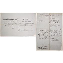 Ormsby County, Nevada Territory Payment to Juror