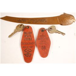 Reno Collectibles, 2 Keys & Brass Letter Opener