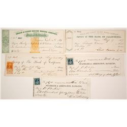 1860s Virginia City, Nevada Mining Check Collection