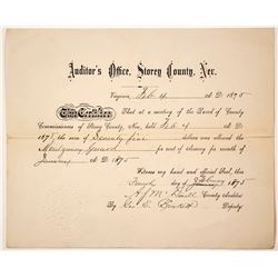Montgomery Guard Document, Virginia City, Nevada