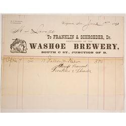 Rare Washoe Brewery, Virginia, Billhead