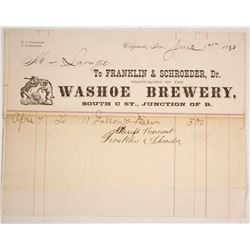 Rare Washoe Brewery, Virginia, Billhead
