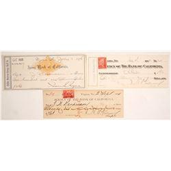 Three Comstock Checks: Requa Signature on One