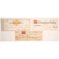 Three Comstock Checks: Requa Signature on One
