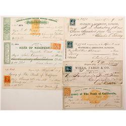 Virginia City, Nevada Mining Check Collection