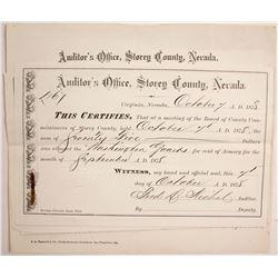 Washington Guard, Virginia City, NV Documents