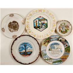 5 Souvenir Plates