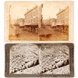 Two Stereoviews Mislabeled as Nevada