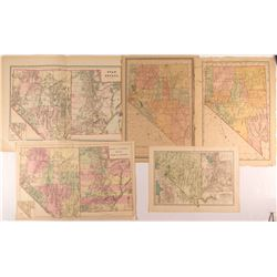 Five Different Double Truck Utah and Nevada Maps