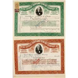 Edison Portland Cement Co. Stock Certs. (27)