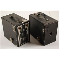 Two Vintage Brownie Box Cameras