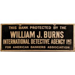 Advertising Plaque for Bank Detective Agency