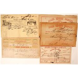 George Wilson Billheads and Receipts (5)