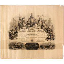1876 Centennial Expo Stock Certificate