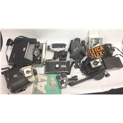 Camera Buffs Treasure: cameras, filters, antiques, collectables, etc - over 4 cubic feet!